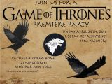 Game Of Thrones Premiere Party Invitation Game Of Thrones Premiere Party Invitation Inspiration I