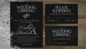 Game Of Thrones Wedding Invitation Template Game Of Thrones Printable Digital Wedding Invitations Invite