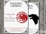 Game Of Thrones Wedding Invitations Geeky Wedding Ideas 50 Greatest Handmade Ideas Ever