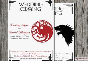 Game Of Thrones Wedding Invitations Geeky Wedding Ideas 50 Greatest Handmade Ideas Ever