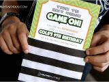 Game On Party Invitations Game On An Ulitmate Gaming Party