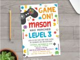 Game On Party Invitations Items Similar to Video Game Invitation Video Game Party
