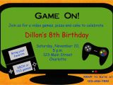 Game On Party Invitations Video Game Birthday Party Invitation Video by