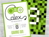 Game On Party Invitations Video Game Invitation Game Truck Party by Wlazdesignshop