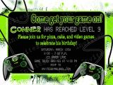 Game On Party Invitations Video Game Party Birthday Party Invitation with or by
