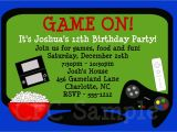 Game On Party Invitations Video Games Birthday Invitation Video Game Birthday Party