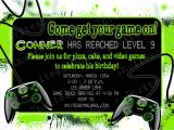 Gaming Party Invitation Template Party Invitation Templates Video Game Party Invitations