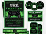 Gaming Party Invitation Template Video Game Birthday Party Invitations Video Game Invitations