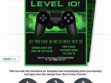 Gaming Party Invitation Template Video Game Party Invitations Video Game Invitation Video
