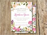 Garden Party Bridal Shower Invitation Wording Garden Party Hand Drawn Floral Frame Bridal Shower