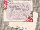 Garden Party Bridal Shower Invitation Wording Garden Party Invitation Bridal Shower by Artbyheartprints