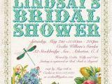 Garden Party Bridal Shower Invitation Wording Victorian Garden Party Invitation Birthday Bridal or