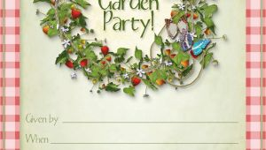 Garden Party Invitation Template Free Printable Summer Garden Party Invitations Party