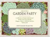Garden Party themed Bridal Shower Invitations Invitations Ultimate Bridesmaid