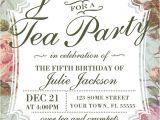 Garden Tea Party Invitation Ideas Birthday Tea Party Invitation Template by