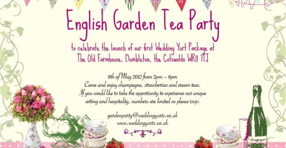 Garden Tea Party Invitation Wording Garden Party Invitations