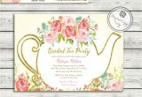 Garden Tea Party Invitation Wording Garden Tea Party Bridal Shower Invitation High Tea