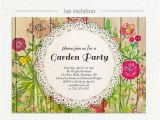 Garden Tea Party Invitation Wording Shabby Floral Garden Party Invitation Watercolor