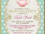 Garden Tea Party Invitation Wording Tea Party Invitation High Tea Bridal Shower Tea Digital