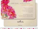 Garden themed Bridal Shower Invitations Pink Waterflower Invitation Boho Botanical Bridal Shower