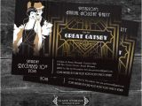 Gatsby Christmas Party Invitations Great Gatsby Holiday Party Christmas Party Invitations Movie