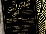Gatsby Christmas Party Invitations Great Gatsby themed Party Invitations Cimvitation
