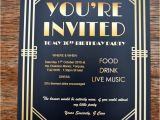Gatsby themed Party Invitations Gatsby Party Invites Gypsy soul