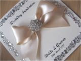 Gems Wedding Invitations Luxury Silver Wedding Invitation Gem Border Detail