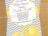Gender Neutral Elephant Baby Shower Invitations Elephant Baby Shower Invitation Gender Neutral Baby Shower