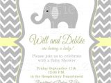 Gender Neutral Elephant Baby Shower Invitations Gender Neutral Elephant Baby Shower Invitation