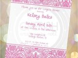 Generic Bridal Shower Invitations Designs 50 All Occasion Damask Flowers Generic Invitations