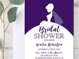 Generic Bridal Shower Invitations Editable Bridal Shower Invitation Purple Dress Pdf
