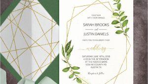 Geometric Wedding Invitation Template Geometric Wedding Invitation Printable Green Wedding