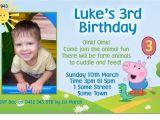 George Pig Birthday Party Invitations Cu943 George the Pig Birthday Invitation Boys themed