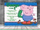 George Pig Birthday Party Invitations George Pig Dinosaur Invitation Peppa Pig by
