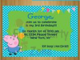 George Pig Birthday Party Invitations Items Similar to George the Pig George the Pig