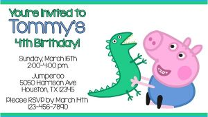 George Pig Birthday Party Invitations Peppa Pig Invitations