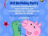 George Pig Birthday Party Invitations Personalised Birthday Invitations George Pig X 5