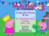 George Pig Party Invitations 10 Personalised Peppa Pig and George Birthday Party