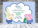 George Pig Party Invitations George Pig Invitation Peppa Pig