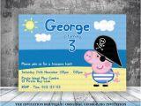 George Pig Party Invitations George Pig Pirate Invitation Peppa Pig