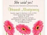 "Gerbera Daisy Bridal Shower Invitations Pink Gerbera Daisy Bridal Shower Invitations 5 25"" Square"