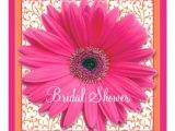 Gerbera Daisy Bridal Shower Invitations Pink orange Gerbera Daisy Bridal Shower Invitation