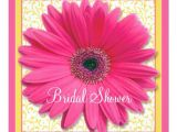 Gerbera Daisy Bridal Shower Invitations Pink Yellow Gerbera Daisy Bridal Shower Invitation