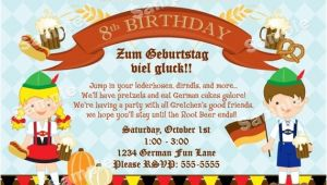 German Party Invitation Personalized German Oktoberfest Invitation for Kids or Family