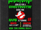 Ghostbusters Birthday Invitations Personalized Ghostbusters Birthday Invitation Party by