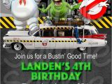 Ghostbusters Birthday Party Invitations Ghostbuster Birthday Invitation