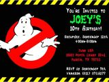 Ghostbusters Birthday Party Invitations Ghostbusters Invitations General Prints