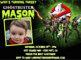 Ghostbusters Party Invitations Ghostbusters Invitation Birthday Halloween Costume Party