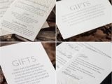 Gift Ideas Made From Wedding Invitations Gift Card Wording and Design Ideas some Inspir and Designs